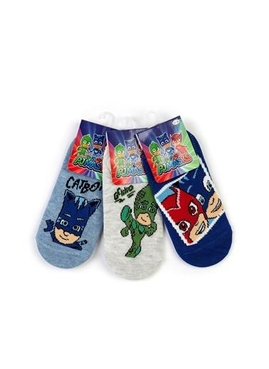 Pijamaskeliler Pijamaske 6 Çift Sneaker Çorap 15982 Mavi